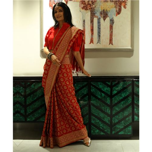 Alale Chaudhani Gethua Banarasi Handwoven Silk Saree