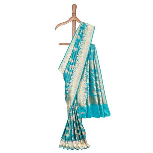 Pari Banarasi Handwoven Silk Tissue Saree